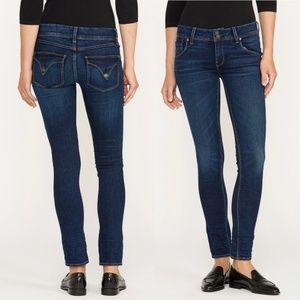 Hudson Collin Mid-Rise Elm Dark Wash Skinny Jeans